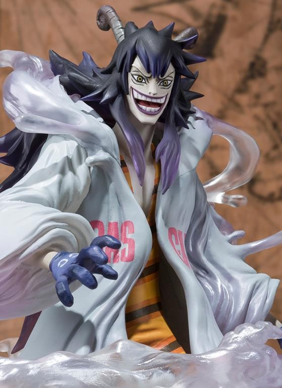 One Piece Figuarts Zero Caesar Clown Figure Close-Up 2013