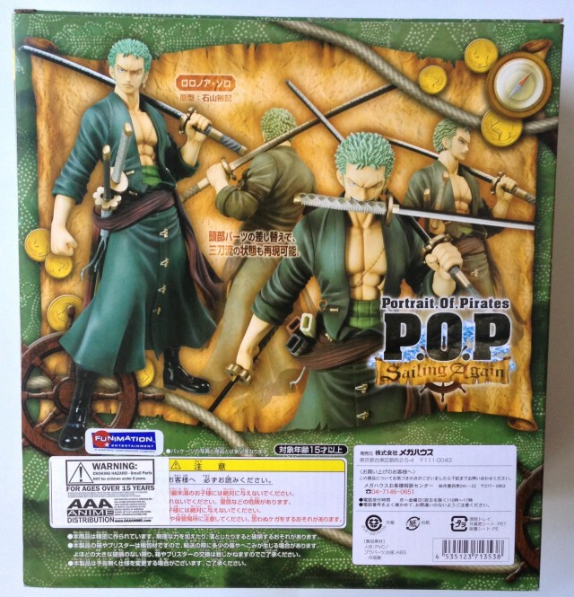 One Piece P.O.P. Sailing Again Roronoa Zoro Box Back