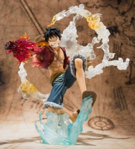 Bandai One Piece Figuarts Zero 2013 Luffy Battle Ver Red Hawk Figure