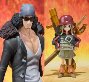 One Piece Figuarts Zero 2013 Figures Film Z Aokiji and Kid Nami
