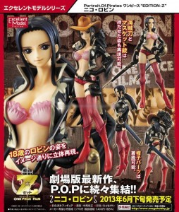 One Piece POP Edition Z Nico Robin Figure Poster MegaHouse June 2013