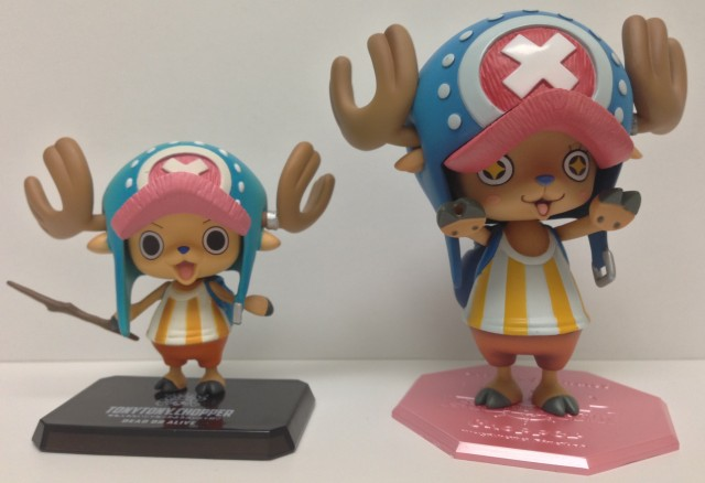 One Piece Chopper New World Figuarts Zero and MegaHouse POP Figures Comparison