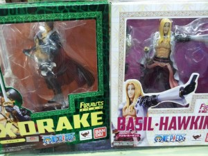 Figuarts Zero One Piece 2013 Basil Hawkins and X-Drake Figures Box