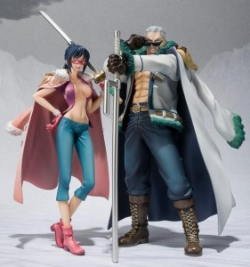 2013 Figuarts Zero One Piece Punk Hazard Smoker & Tashigi Figures