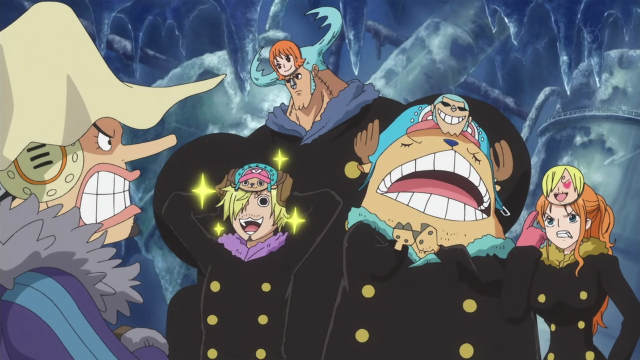 Body Swapped Mugiwaras with Masks One Piece Episode 589