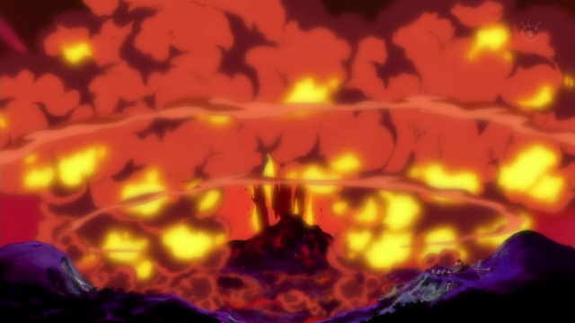 Explosion Destroys All Life on Punk Hazard One Piece 589 Screenshot