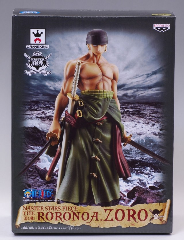 One Piece Banpresto Master Stars Piece Roronoa Zoro MSP Box