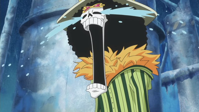 One Piece Screenshot Brook Cries Hearing About Caesar Clown