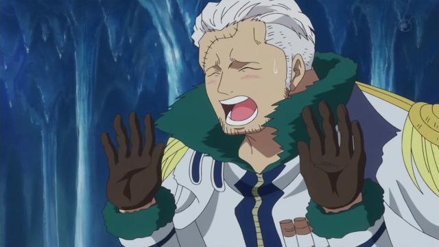 Tashigi in Captain Smoker's Body Screenshot from One Piece Anime 589