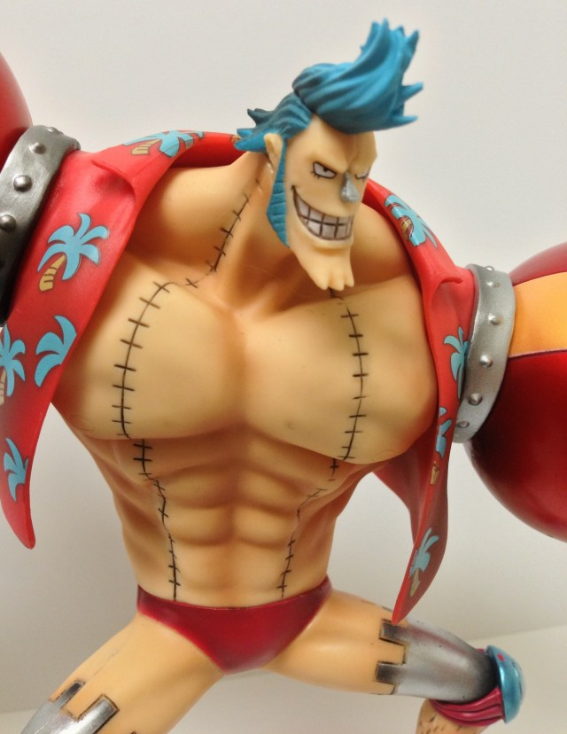 Pre-Timeskip Franky Head Close-Up Figuarts Zero One Piece Figure