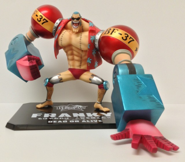Timeskip Franky One Piece Figuarts Zero Figure New World Ver. On Stand