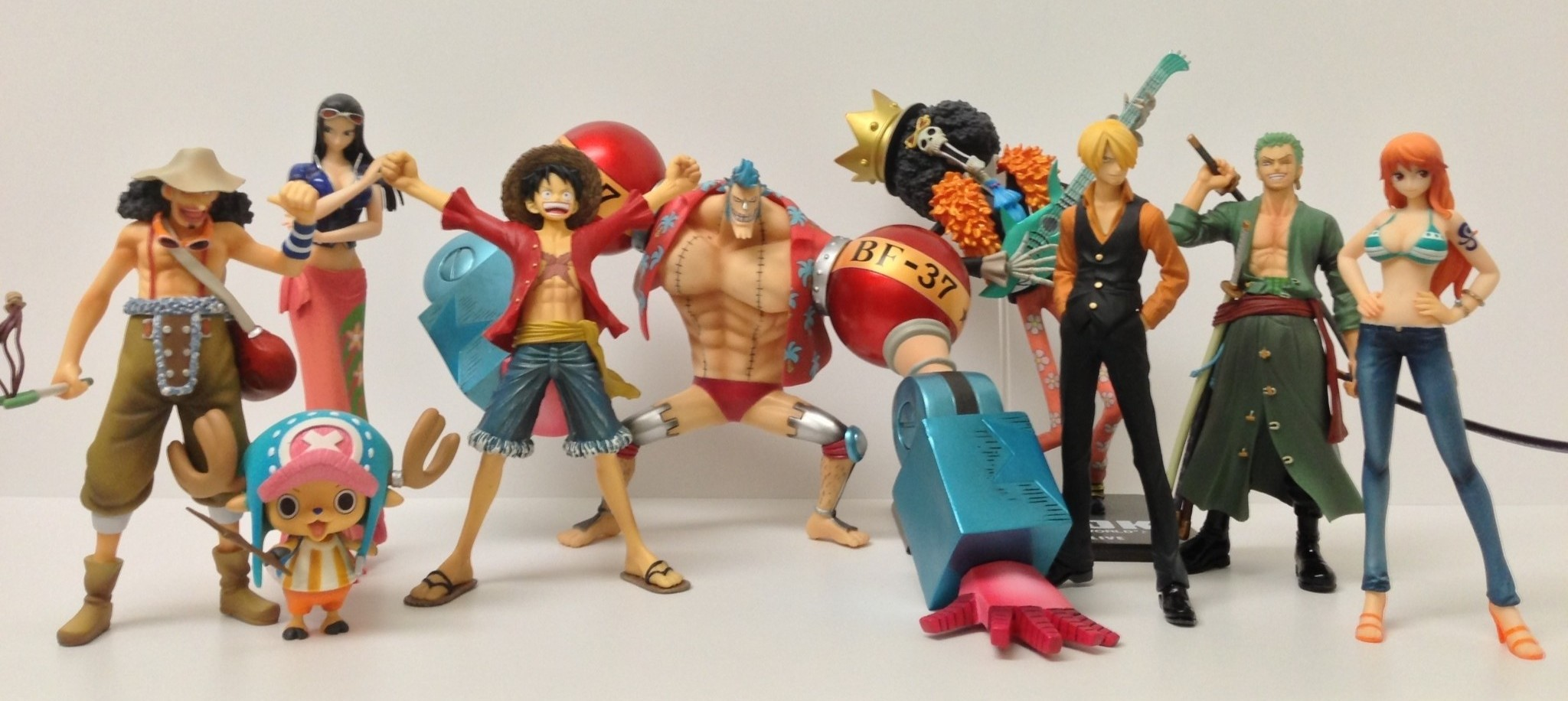 One Piece Figuarts Zero Straw Hats Pirates Crew Complete Set