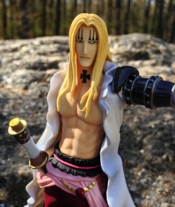 Close-Up of Basil Hawkins One Piece Figuarts Zero Pre Timeskip Figure