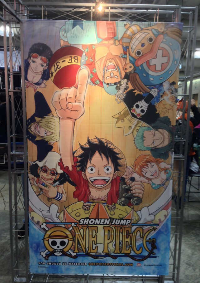 Funimation One Piece Banner at Anime Boston 2013