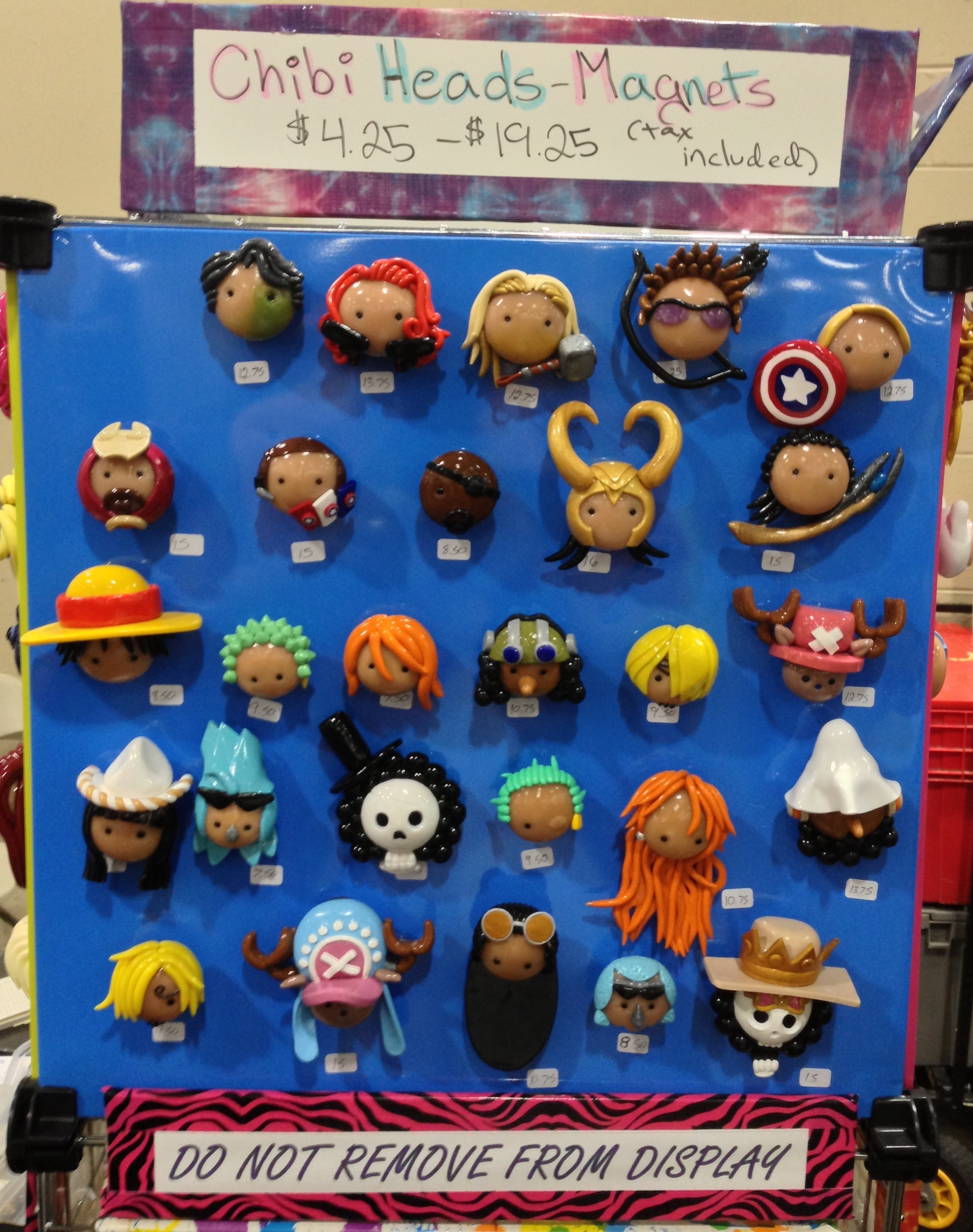 Anime Boston 2013 Custom One Piece Magnets Chibi Heads