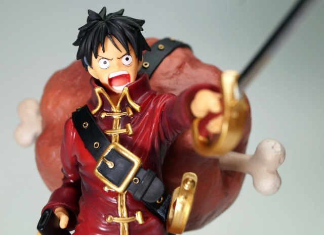 Close-Up of One Piece Film Z Figuarts Zero Monkey D. Luffy Figure