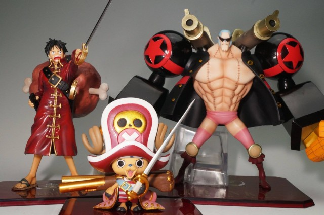 One Piece Z Figuarts Zero Franky Chopper Luffy Figures Bandai
