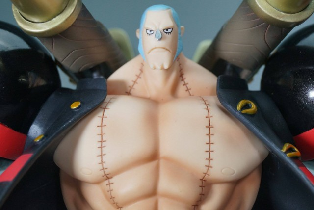 One Piece Z Figuarts Zero Franky Figure without Glasses Bandai Film Z
