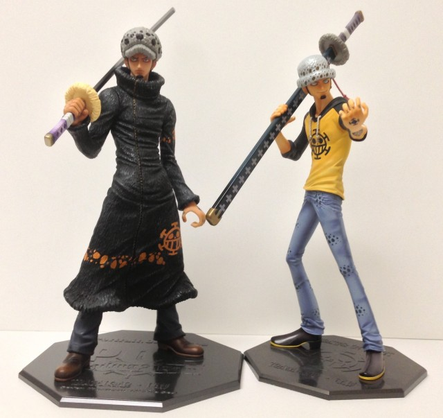 One Piece Portrait of Pirates Trafalgar Law Neo-DX vs. Sailing Again Comparison