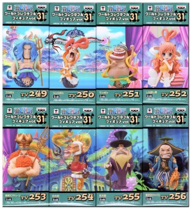 One Piece WCF Series 31 Figures Complete Set Neptune Shirahoshi Princes