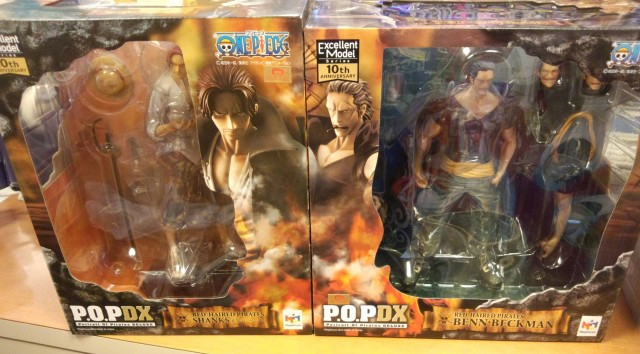 One Piece MegaHouse POP 10th Anniversary Boxes Shanks and Benn Beckman