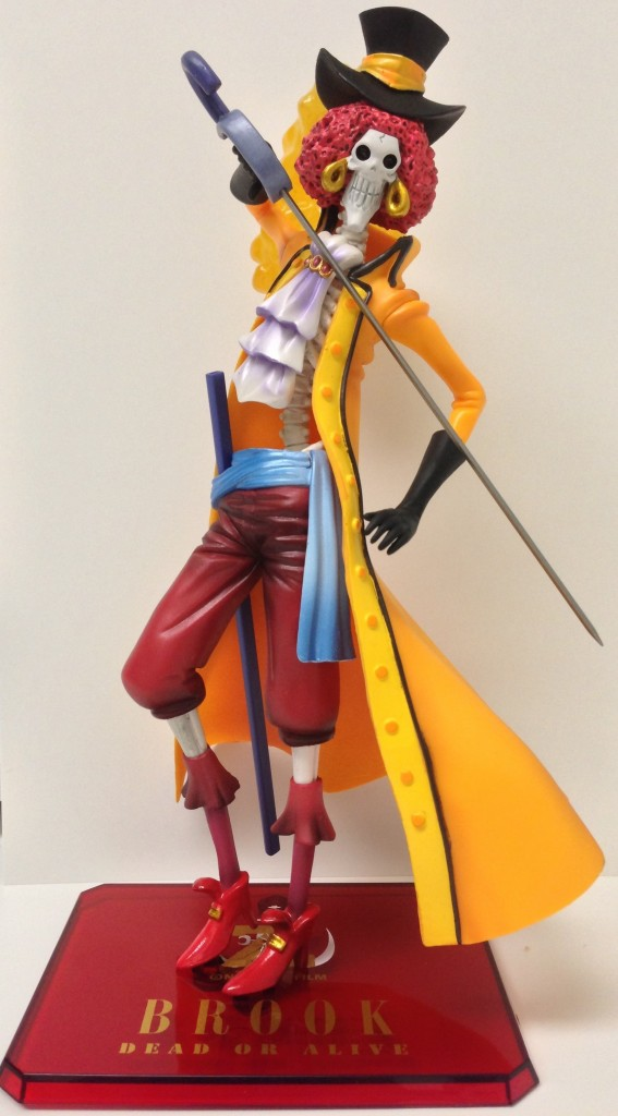 One Piece Brook Film Z Figure in Orange Coat Figuarts Zero Limited