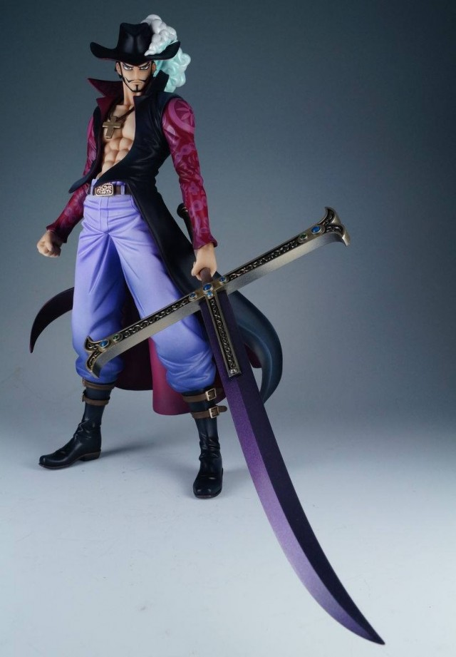 One Piece Portrait of Pirates Hawkeye Mihawk Version 2 with Sword Drawn