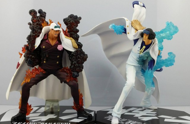 One Piece Figuarts Zero Admiral Akainu vs Aokiji Battle Ver Figures