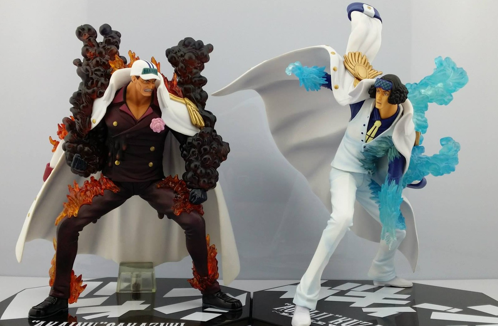 One Piece Figuarts Zero Admiral Akainu vs Aokiji Battle Ver FiguresAokiji Vs Akainu