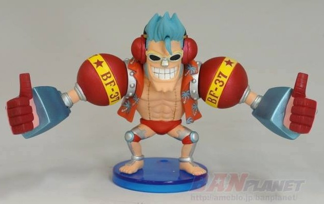 2014 One Piece WCF Pirates Of The Iron Franky Shogun Armored Franky Figure