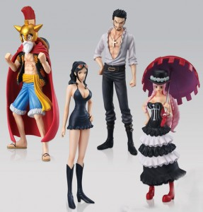 One Piece Styling Dress Rosa Figures Luffy Nico Robin Perona Mihawk Hawkeye 2014