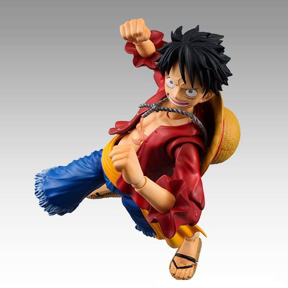 Luffy Variable Action Heroes Action Figure with Angry Face Punching