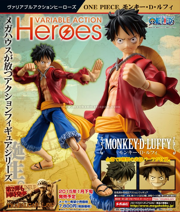 MegaHouse Luffy Variable Action Heroes Figure Poster