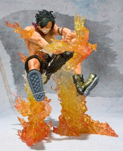 Figuarts Zero One Piece Ace Cross Fire Metallic Ver Repaint Figure