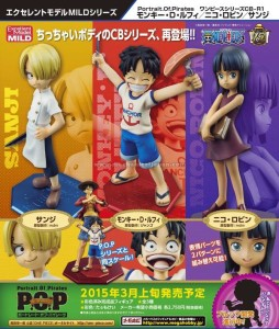 One Piece P.O.P Mild Poster Luffy Nico Robin Sanji Brook Announcement