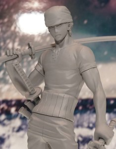 Close-Up of MegaHouse One Piece P.O.P. 10th Anniversary Roronoa Zoro Figure