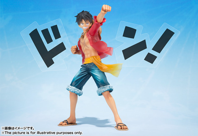 Figuarts Zero One Piece 5th Anniversary Luffy Figure with Don Word Effects Pieces