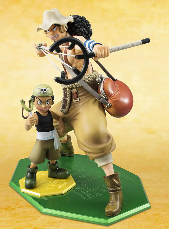 One Piece POP Usopp New World & Kid Usopp Mild Figures Size Comparison