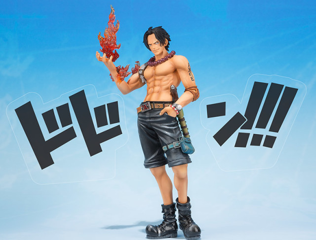 5th Anniversary Portgas D. Ace Figuarts Zero Figure with Dodon Sound Effects Pieces