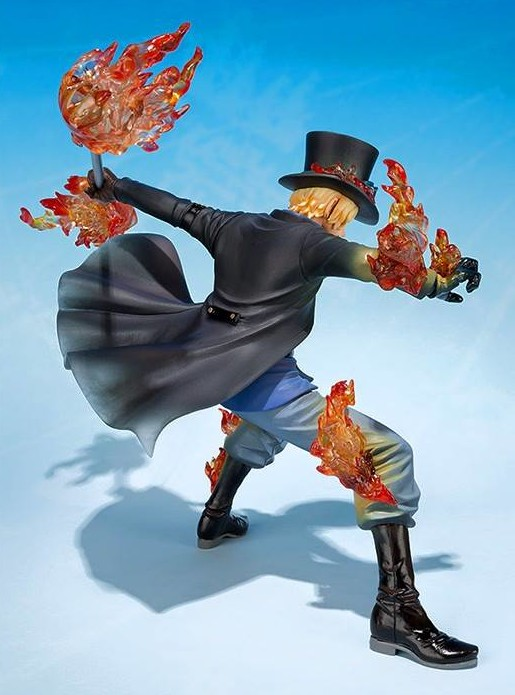 Back of 5th Anniversary Sabo Figuarts Zero One Piece Figure