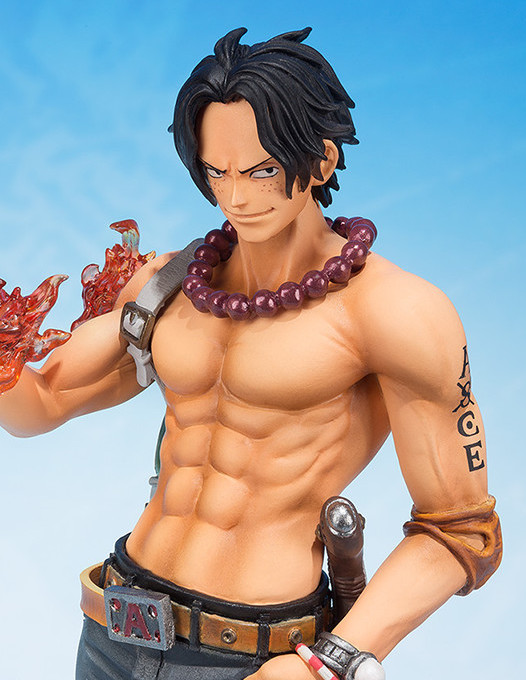 Close-Up of One Piece 5th Anniversary Figuarts Zero Ace Portgas D. Figure