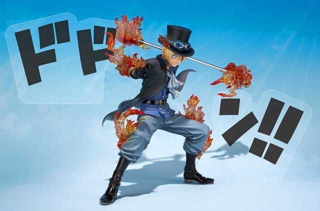 One Piece Figuarts Zero 5th Anniversary Sabo Figure with Dodon Sound Effect