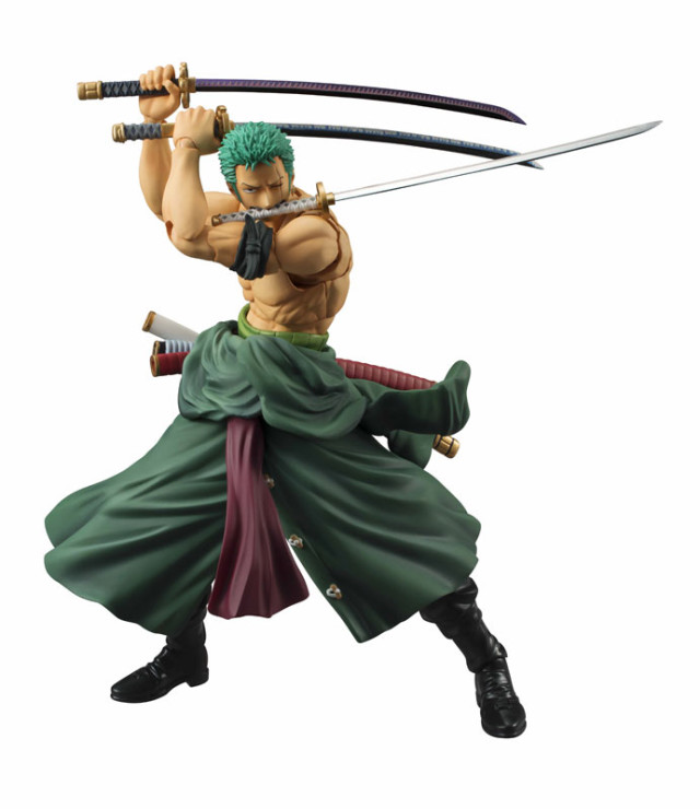 One Piece Variable Action Heroes Roronoa Zoro Figure with Swords