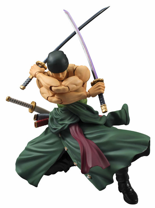 September 2015 One Piece Variable Action Heroes Roronoa Zoro MegaHouse Figure