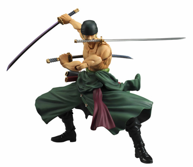 Variable Action Heroes One Piece Zoro Figure Three Sword Style