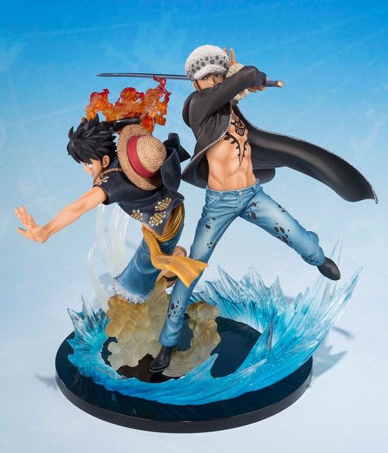 Figuarts Zero One Piece Luffy and Law Figures 5th Anniversary Edition