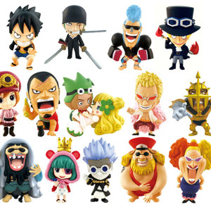 One Piece Ani-Chara Heroes Dressrosa Arc Part 2 Figures