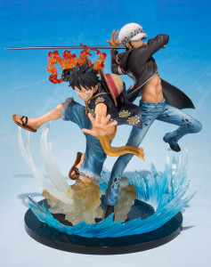 One Piece Figuarts Zero 5th Anniversary Monkey D Luffy and Trafalgar Law Figure
