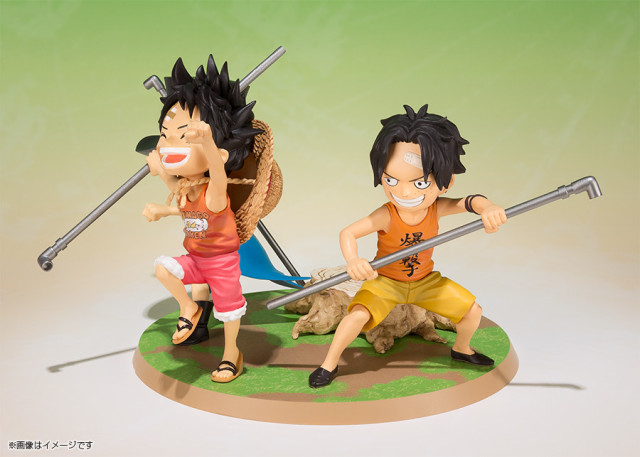 Figuarts Zero One Piece Kid Ace Luffy Sabo Statue