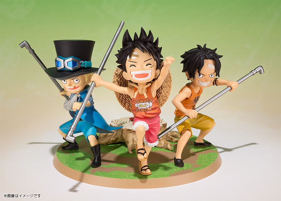 one piece figuarts zero luffy ace sabo brothers figures one piece z. Black Bedroom Furniture Sets. Home Design Ideas